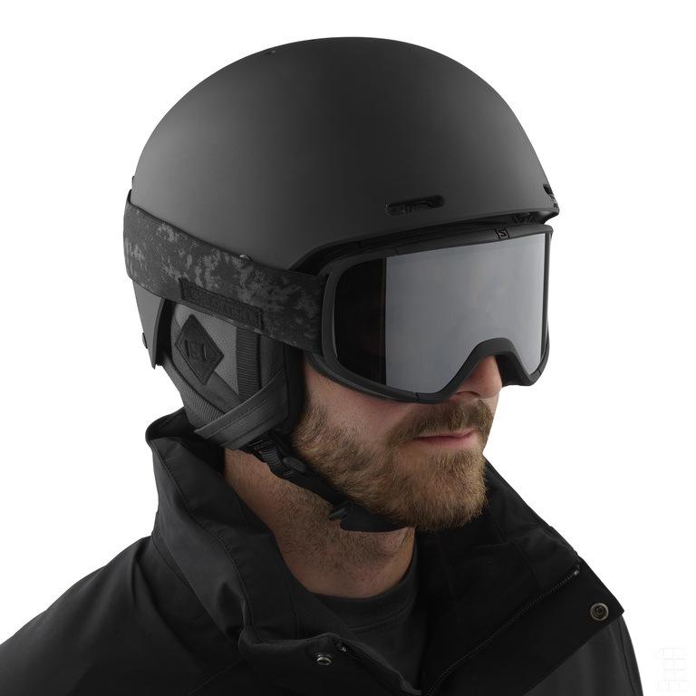lyžařská helma Salomon Brigade+ audio black S 18 19  4dd3ae93169