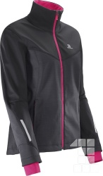 bunda Salomon Pulse Softshell W black/pink 16/17